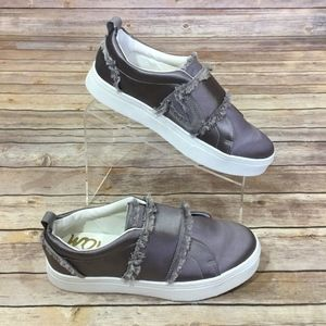 SAM EDLEMAN 8.5 Levine Platform Sneaker Gray Shoe